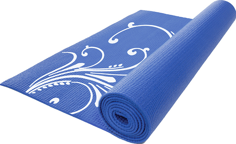 PATTERNED EXERCISE MAT / blue -