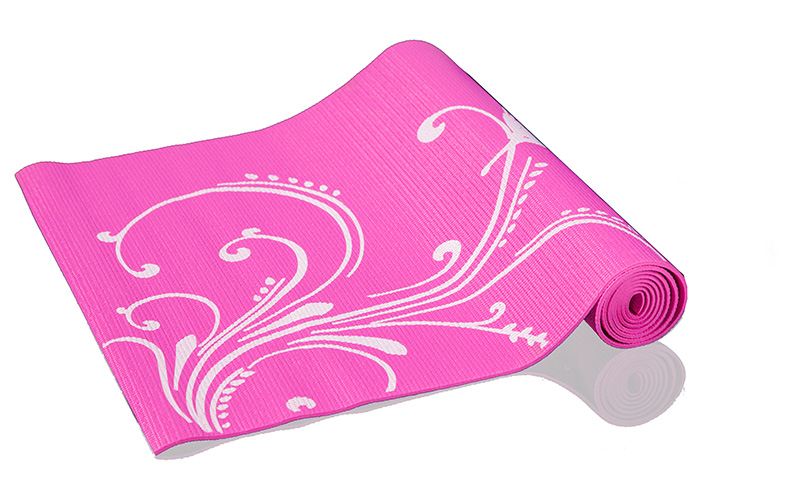 PATTERNED EXERCISE MAT / pink -