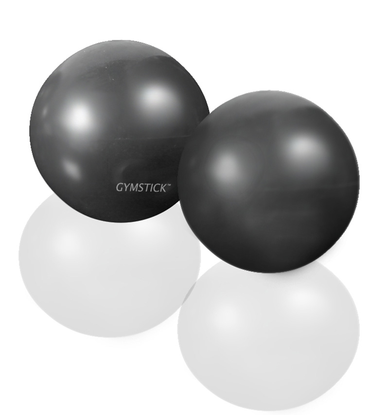 EXERCISE WEIGHT BALL 2x1 kg + DVD  -
